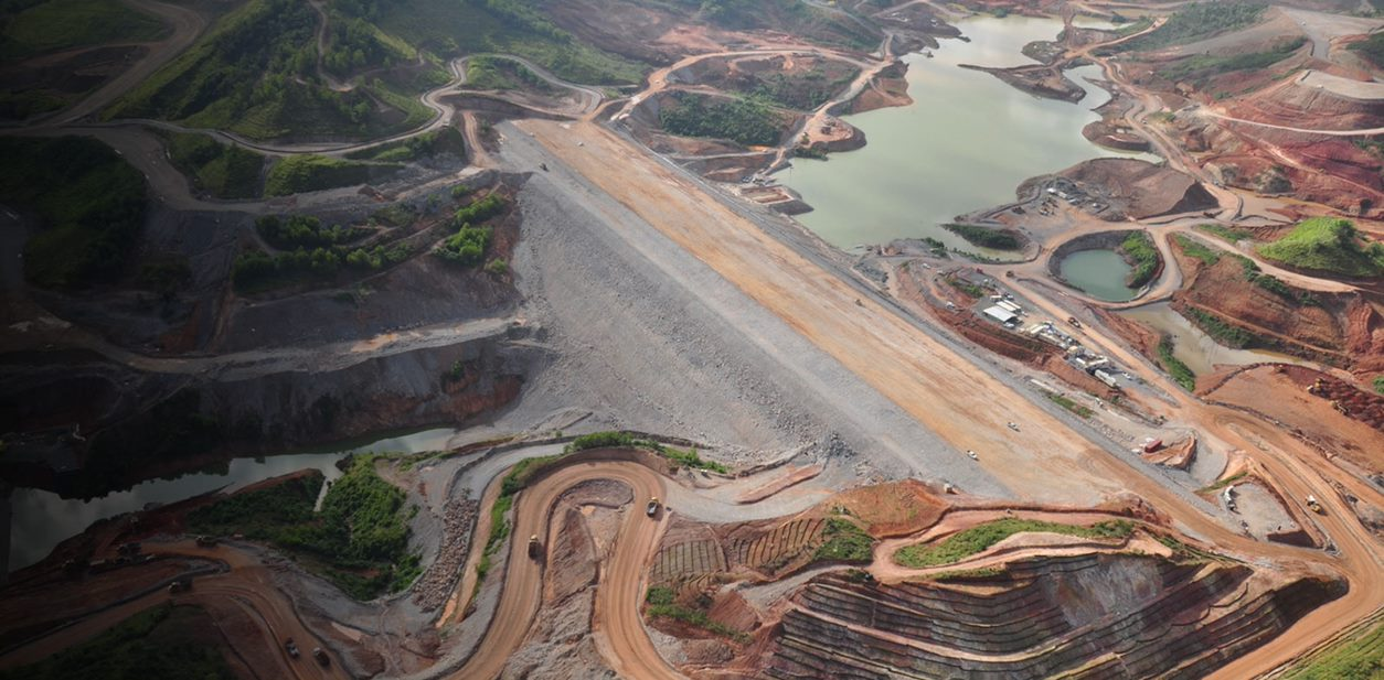 Mine tailings from above